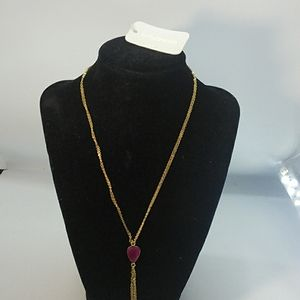 Necklace by Sonya Renee pink stone